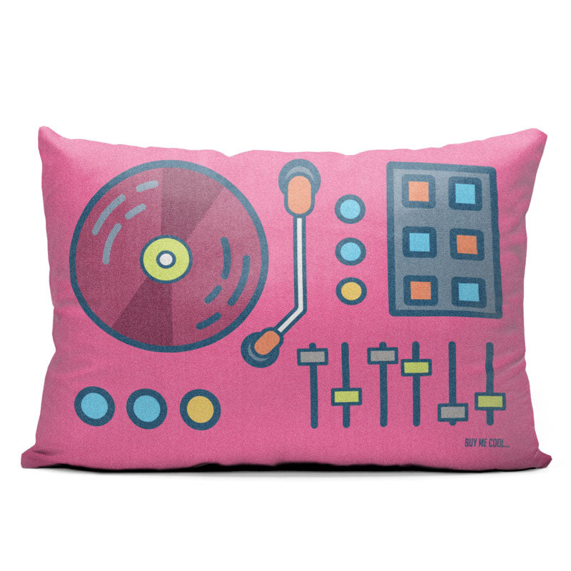 Pop Turntable - Throw Pillow