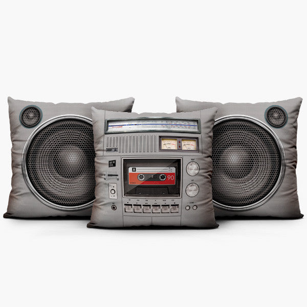 Boombox Set Classic - Throw Pillow