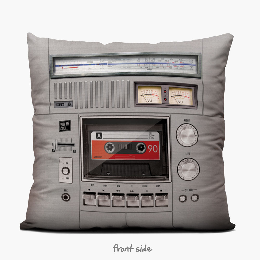 Cassette Deck - Throw Pillow