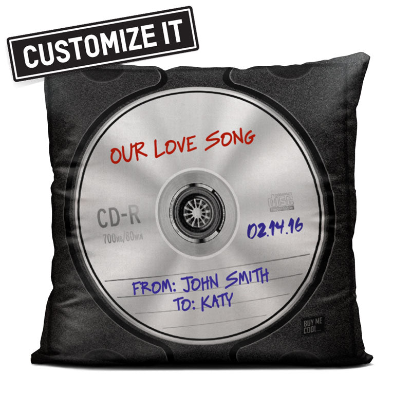 Compact Disc - Custom - Throw Pillow