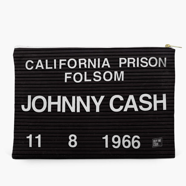 Johnny Cash Mugshot - Pouch
