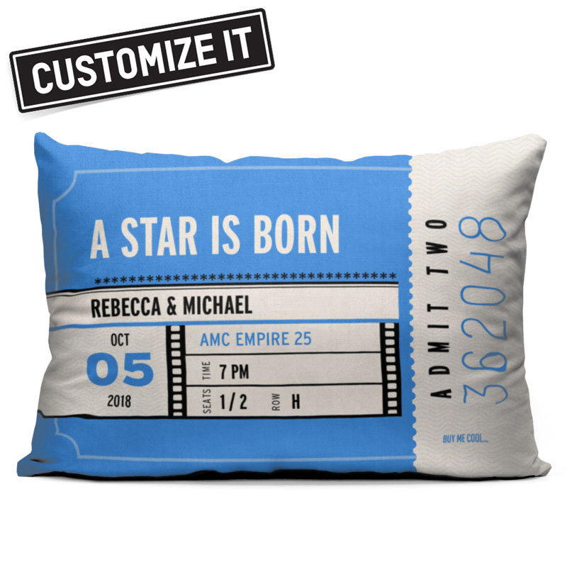 Movie Ticket - Throw Pillow