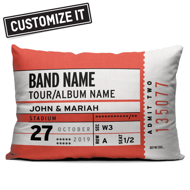 Concert Ticket - Throw Pillow