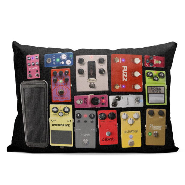 Pedal Board - Throw Pillow