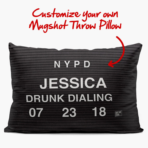 Custom Mugshot Throw Pillow - Personalize it on your own - buymecool