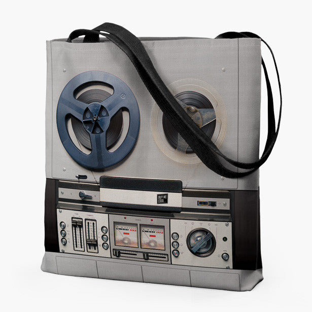 Reel to Reel and Speaker - Tote Bag