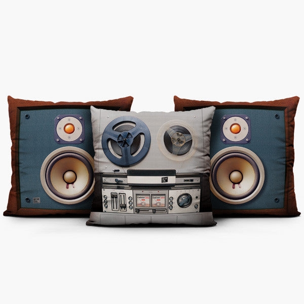 Reel to Reel Studio Set - Throw Pillow