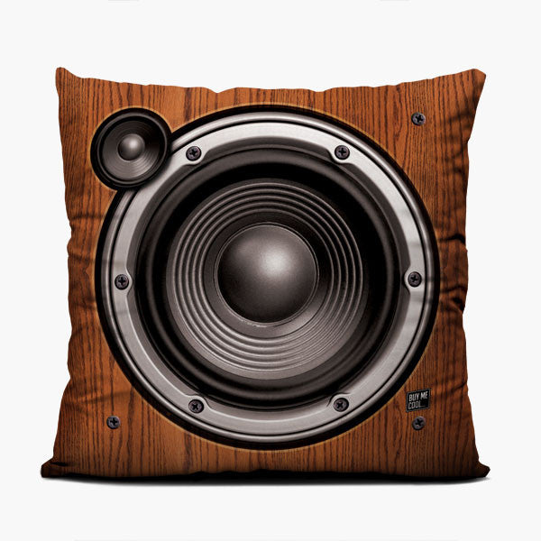 Wood Speaker - Left - Throw Pillow