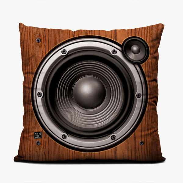 Wood Speaker - Right - Throw Pillow