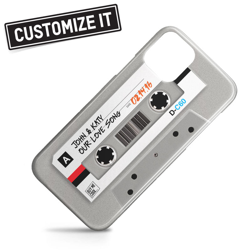 Cassette Tape Gray - Custom - Phone Case