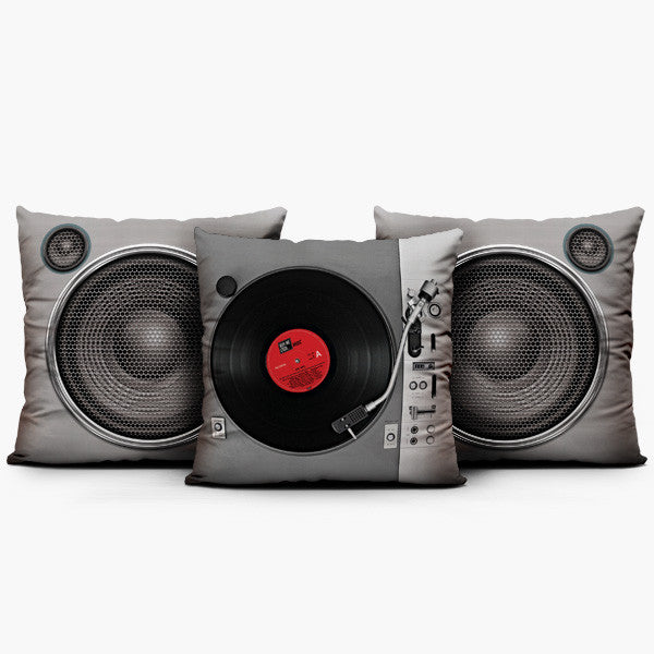 Turntable Classic Set - Throw Pillow