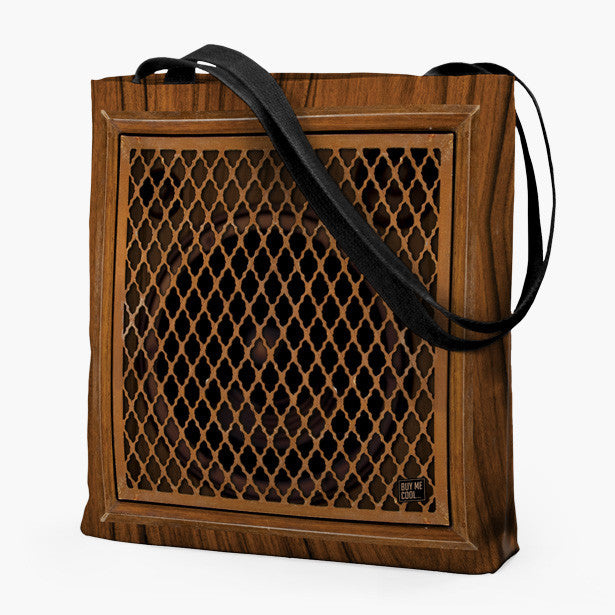 Wood Grid Speaker - Tote Bag