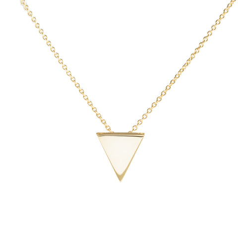 Metrica Vermeil Tiny Triangle Necklace