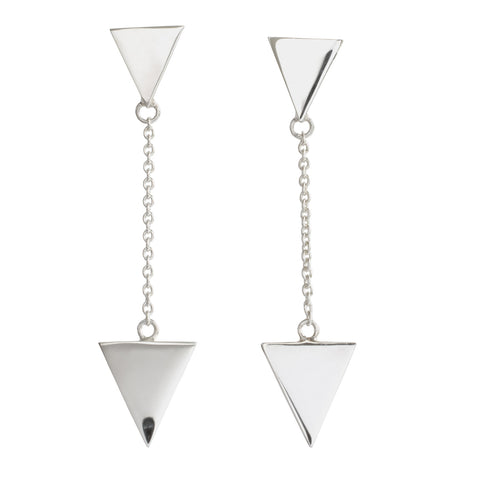 Metrica Duo Triangle Studs