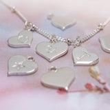 Silver hearts necklace