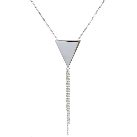Metrica Triangle Tassel Necklace