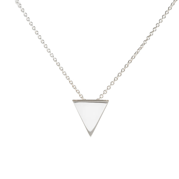 Metrica Tiny Triangle Necklace