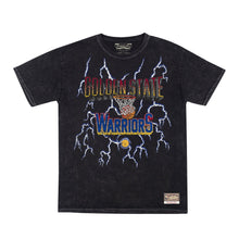 Load image into Gallery viewer, MITCHELL & NESS - NBA VINTAGE LIGHTNING WARRIORS- BLACK TEE