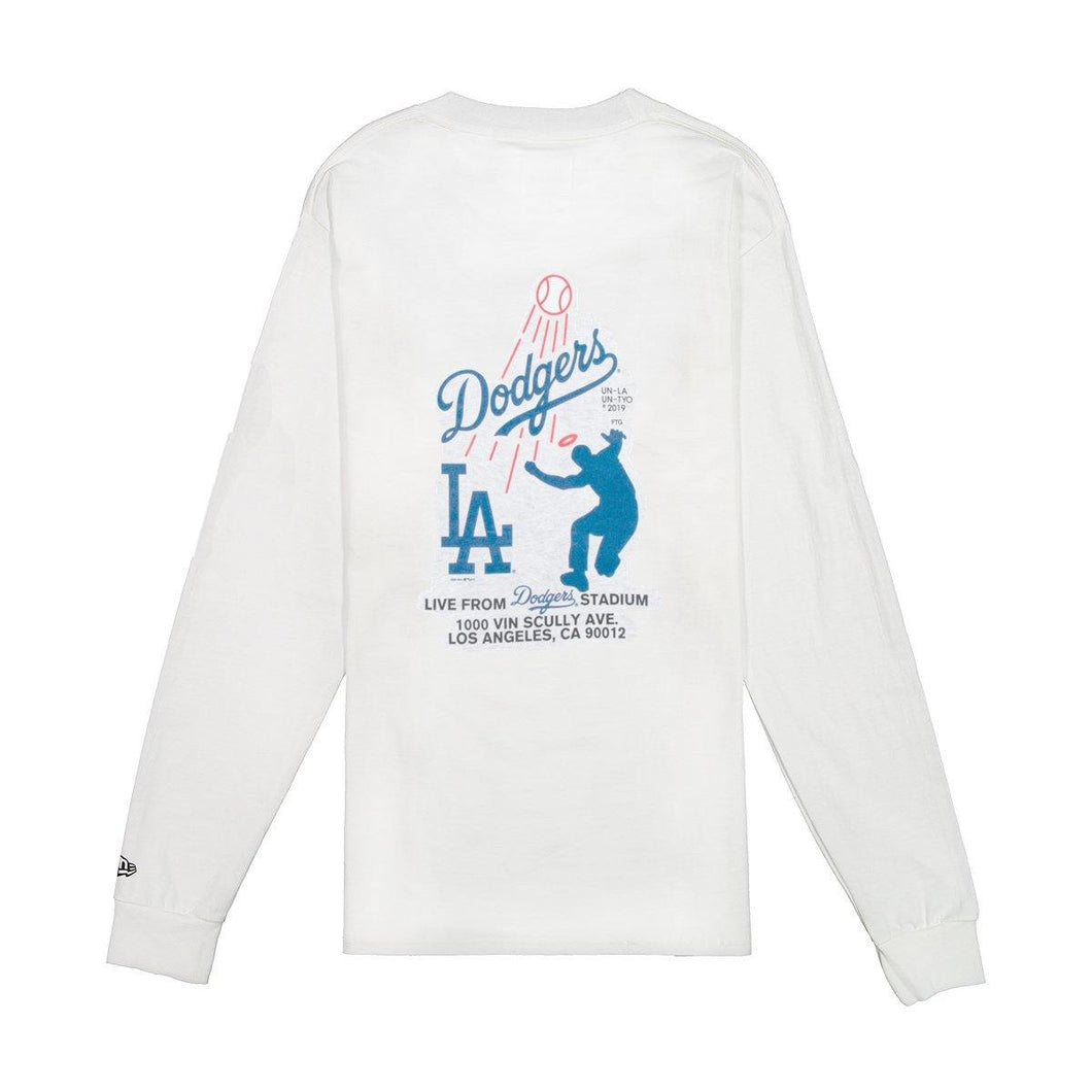 Union x Dodgers LA Long Sleeve Tee - White