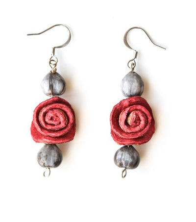 Hang Rose St. Peter Tears Earrings