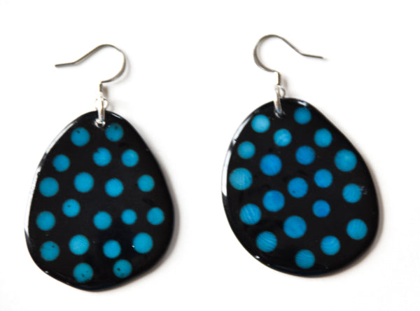 Tagua Batik Earrings