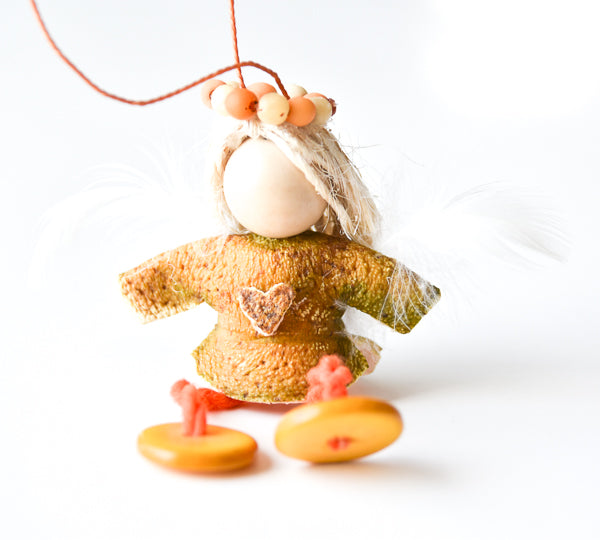 Orange Peel Angel Ornament