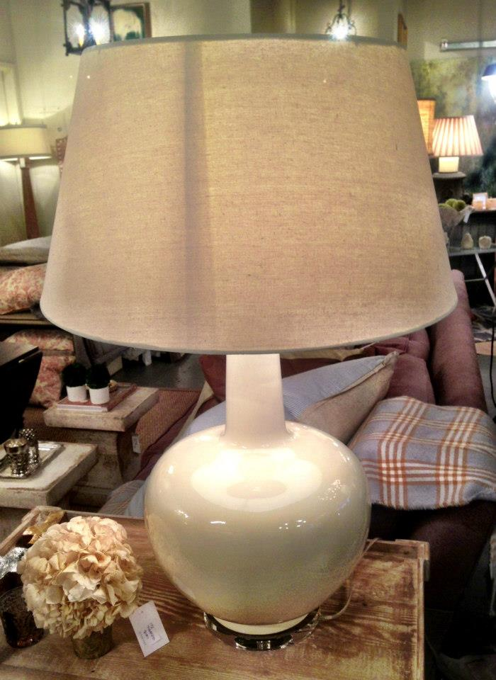 Cream Porcelain Lamp