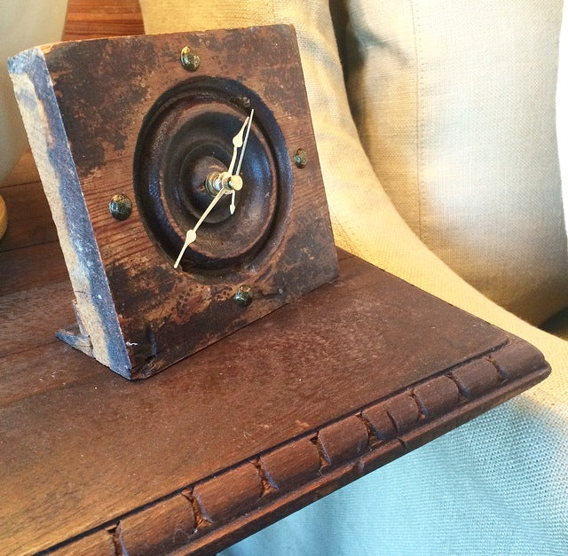 I told you that our client is creative... he made this beautiful clock! Perfect finishing touch!