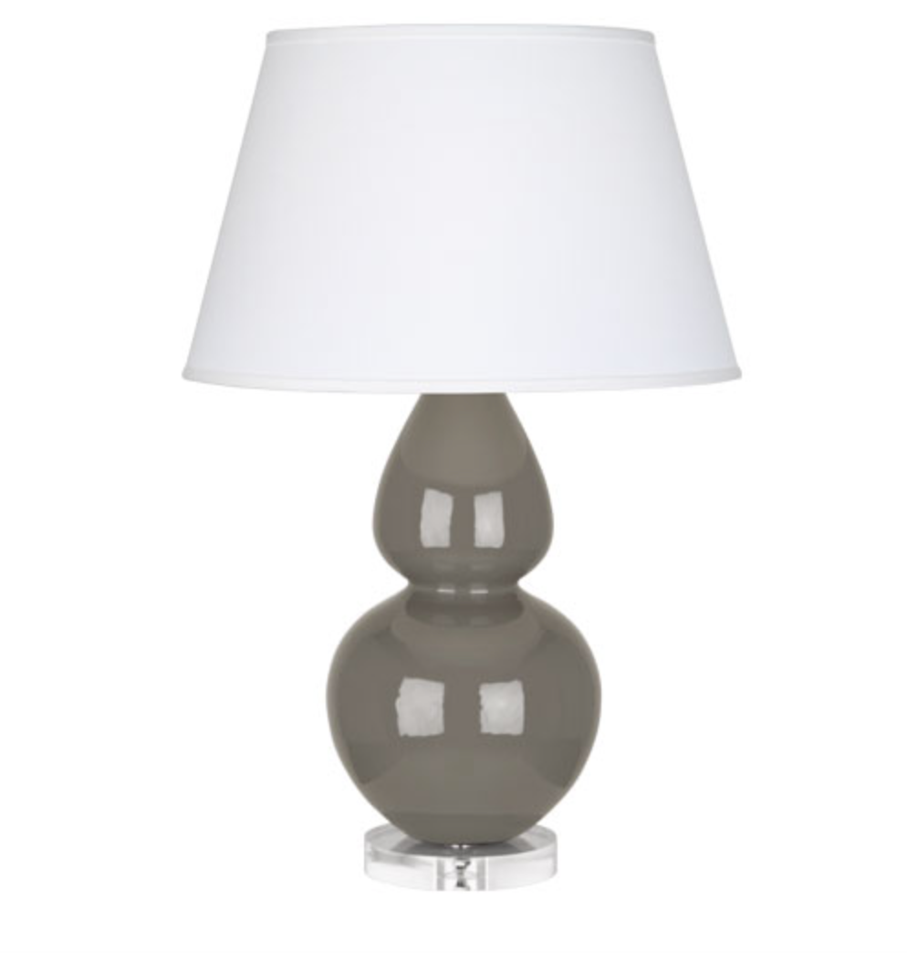 Double Gourd Table Lamp in Ash Grey