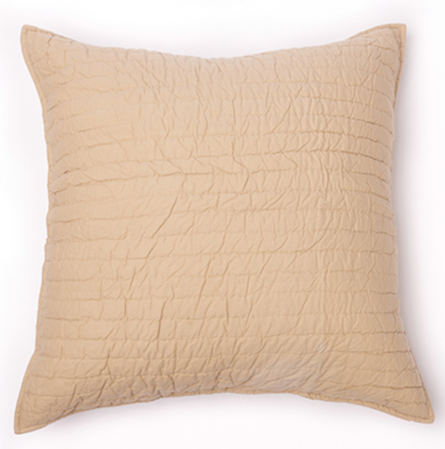 Quilted Sham in Natural