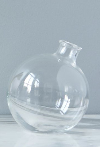 Clear Glass Bud Vase