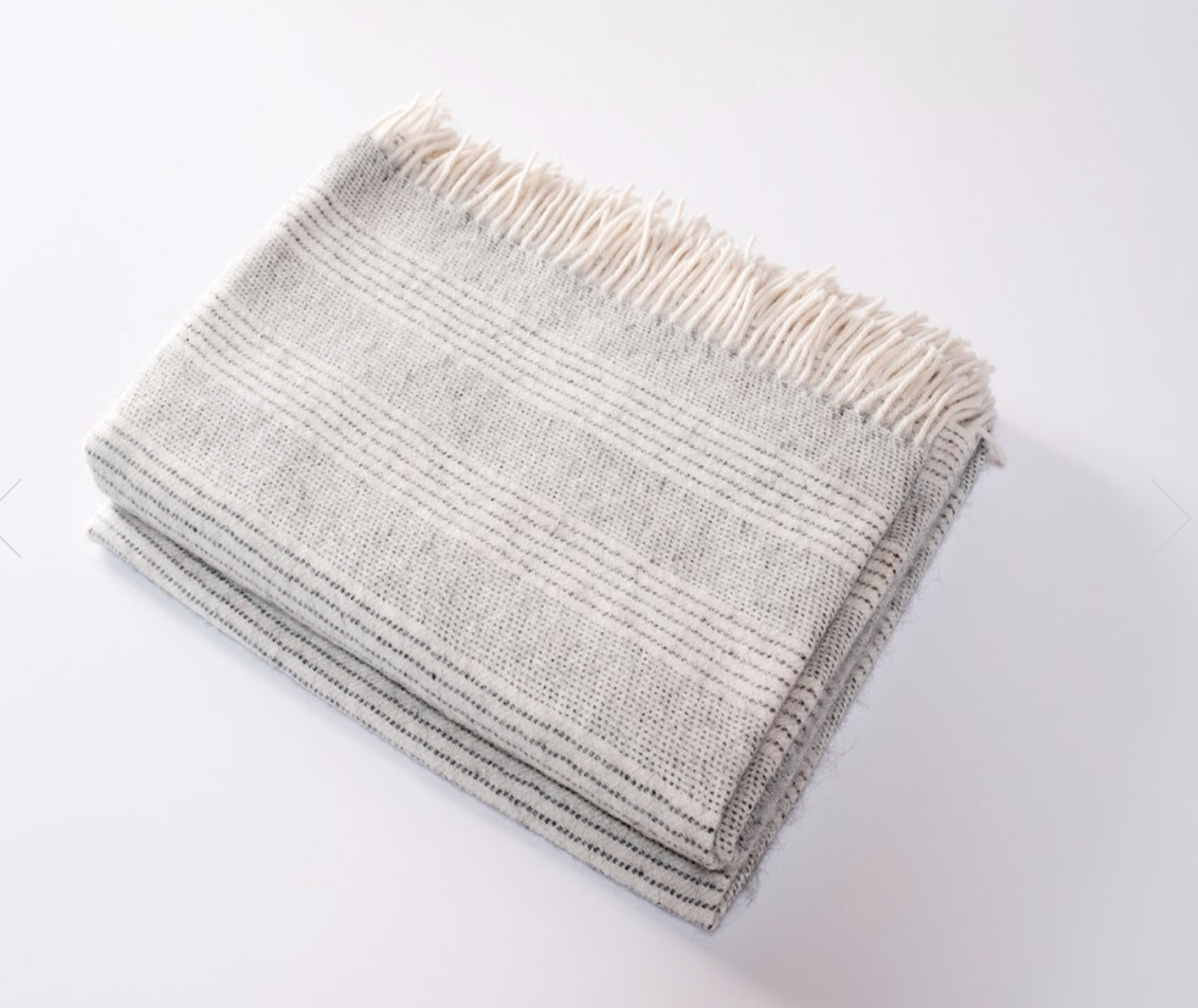 Irish Alpaca Throw in Cloud Stripe