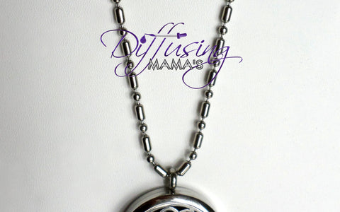 Silver Fancy Dog Tag Adjustable Chain