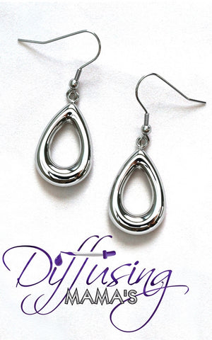 Oil Drop Silver Non-Diffusing Earrings