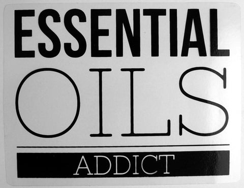 Essential Oils Addict Window Cling