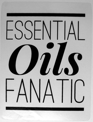Essential Oils Fanatic Window Cling