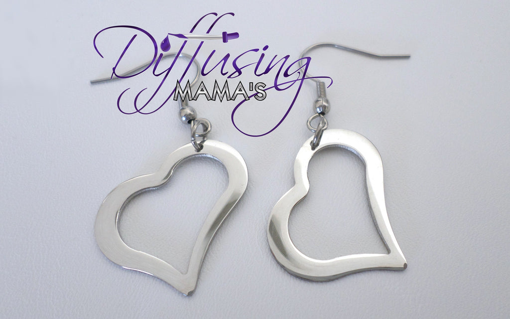 Heart Silver Non-Diffusing Earrings