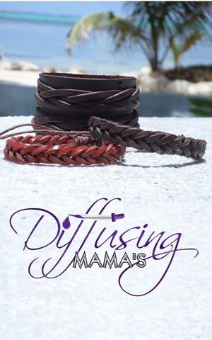 Genuine Leather Essential Oils / Aromatherapy Bracelets