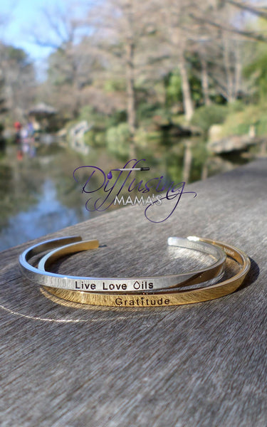 Passion Cufflets - Live Love Oils or Gratitude