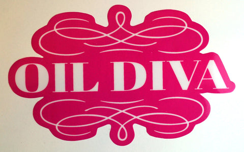 Oil Diva Window Cling
