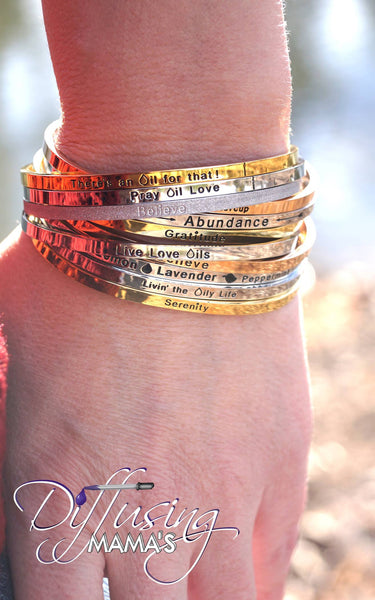 Passion Cufflets - Glitter Believe or Inspire Others