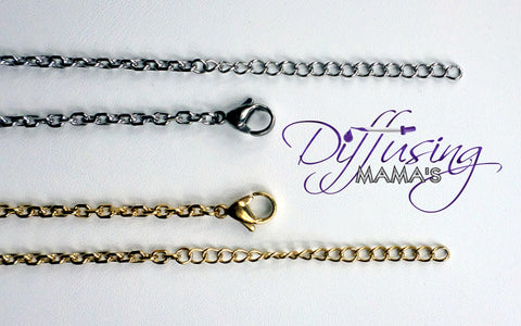 Gold, Silver, or Black Toned Rolo Adjustable Chain
