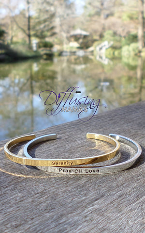 Passion Cufflets - Serenity or Pray Oil Love