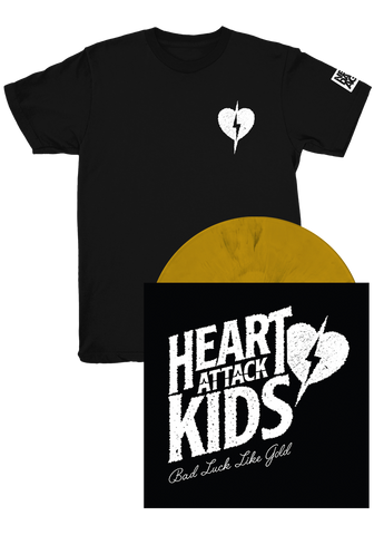HEART ATTACK KIDS - Bad Luck Like Gold (LP) + T-Shirt