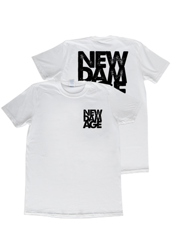 NEW DAMAGE - Logo T-Shirt (White) - New Damage Records