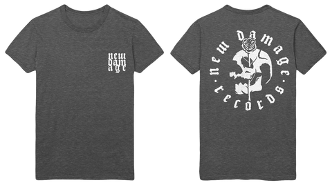 NEW DAMAGE - Logo T-Shirt (Grey) - New Damage Records