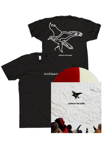 SAFE TO SAY - Down In The Dark Half & Half LP + T-Shirt - New Damage Records