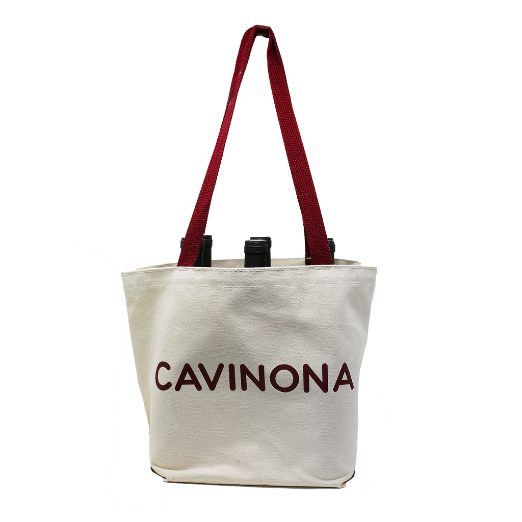 Cavinona Beige 6 Bottle Bag
