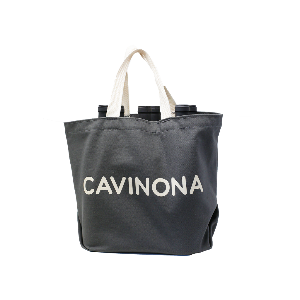 Cavinona Grey 6 Bottle Bag