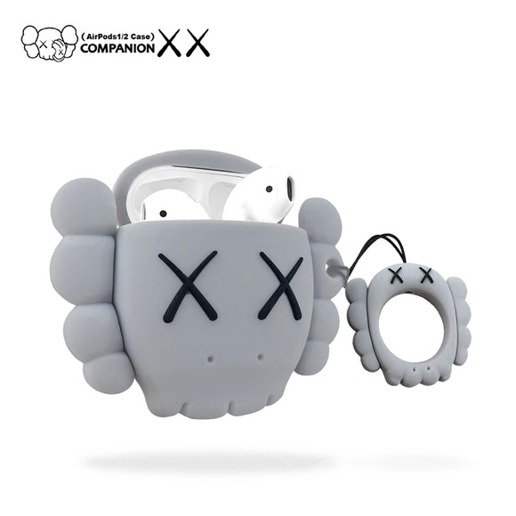 Kaws Head inspired AirPods cases - CEMENT GREY